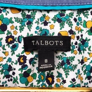 Talbots Tops - Talbots Mushroom Floral Print Button Up Shirt